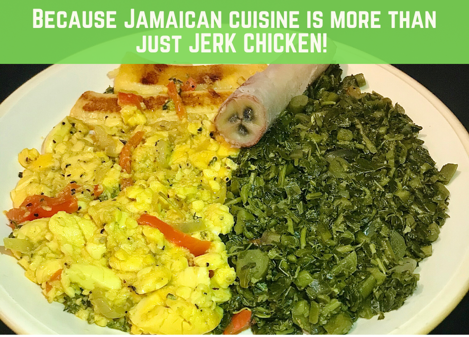Homemade Jamaican Vegan Plate